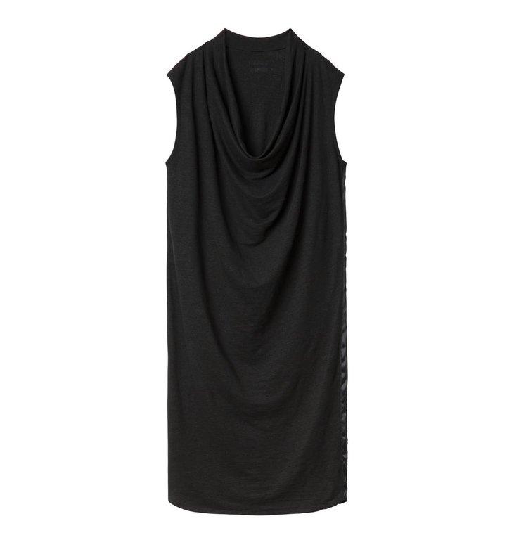 10Days 10Days Black Waterfall Dress Linen 20.301.0201/2