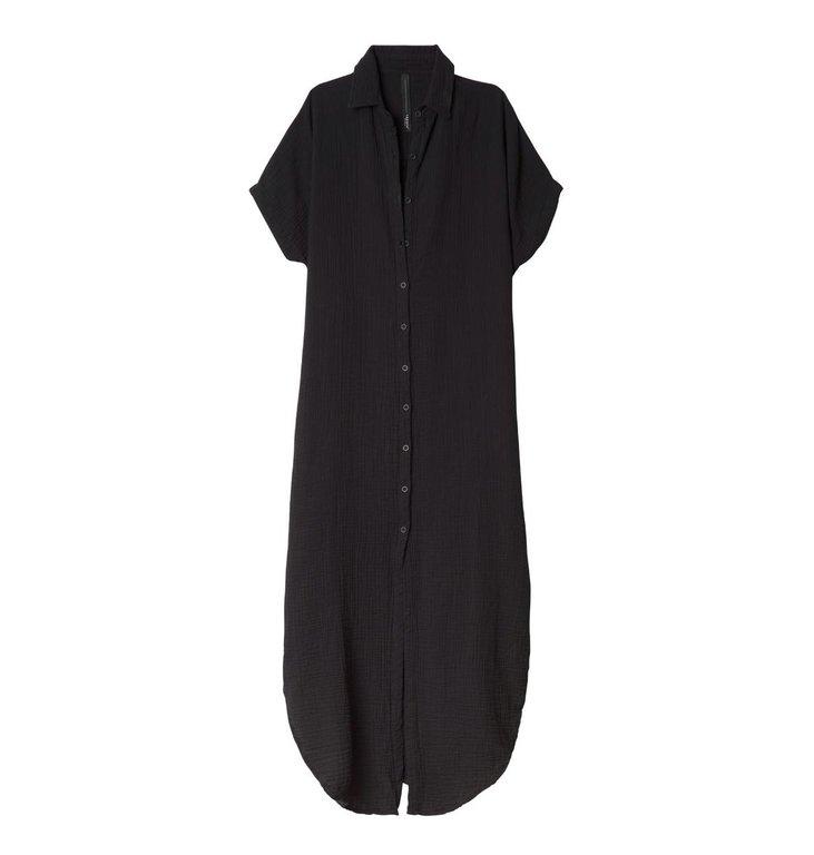 10Days 10Days Black Tunic Dress Waffle 20.308.0201/2