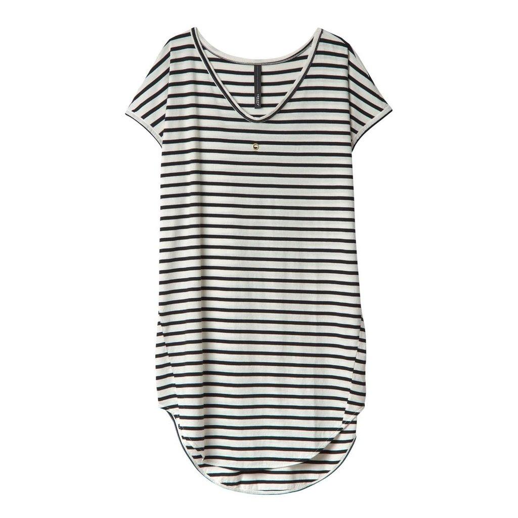 10Days Ecru/Black Dress Stripes 20.312.0201/2