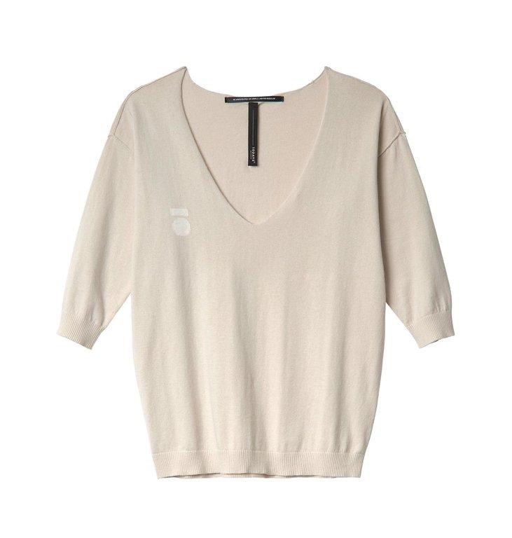 10Days 10Days White Sand V-Neck Sweater 20.607.0201/2