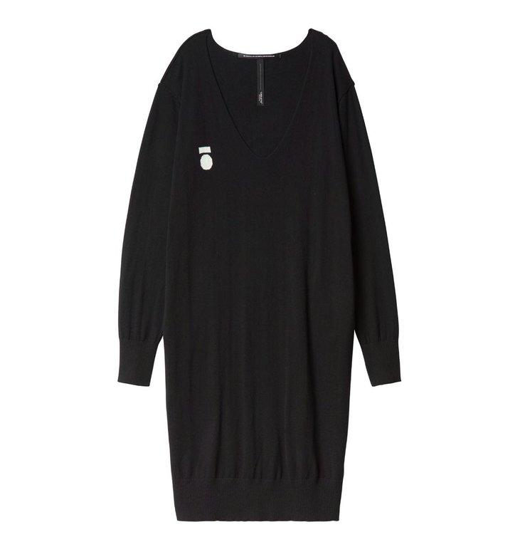 10Days 10Days Black V-Neck Dress 20.637.0201/2