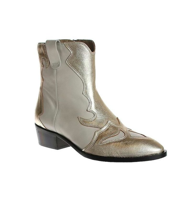 Toral Shoes Toral Shoes Ecru/Gold Cowboy Laars TL12368