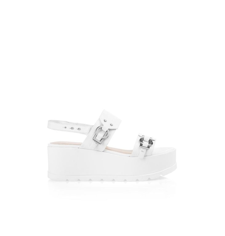 Marc Cain Marc Cain Off White Wedges NBSQ03-L14