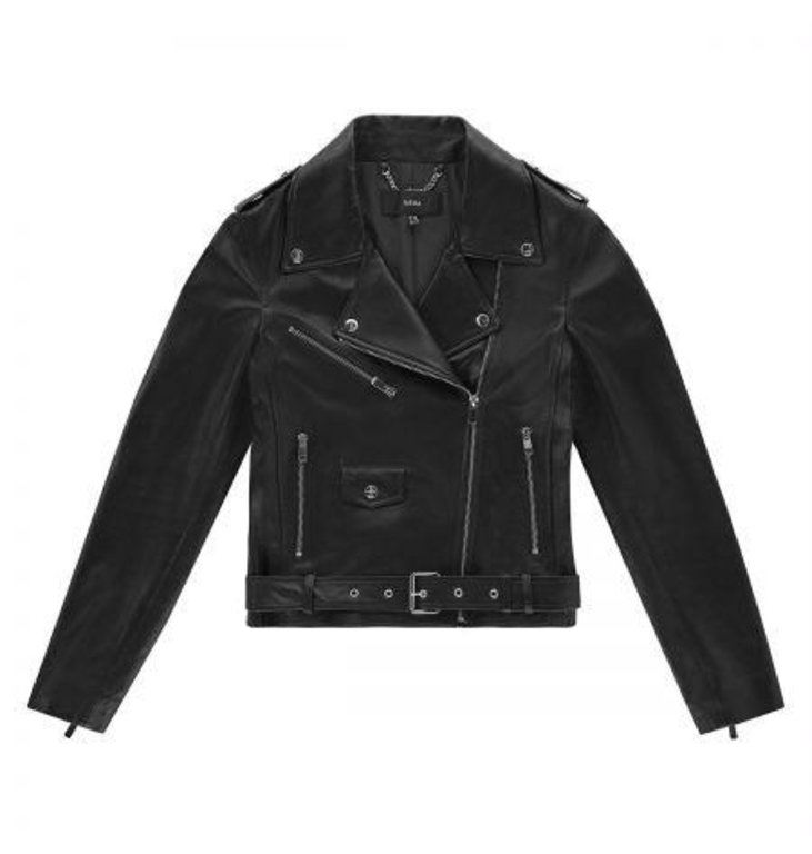 Arma Arma Black Kylie Leather Jacket 007L201014