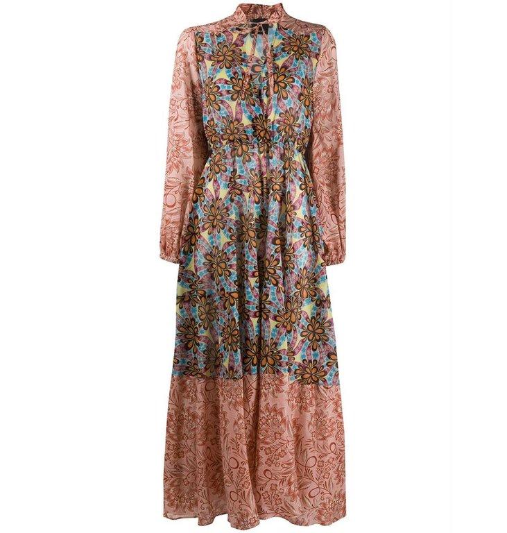 Pinko Pinko Floral Maxi Dress Cartoccio