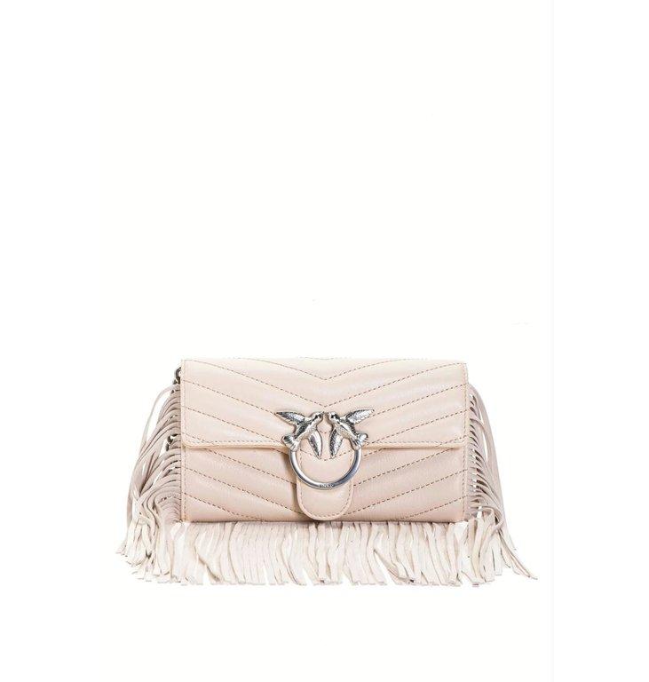 Pinko Pinko Off White Bag Love Wallet Fringes