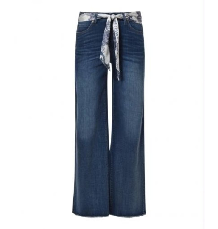 Cambio Cambio Denim Blue Phillis Wide Leg Jeans 9150-0059-01