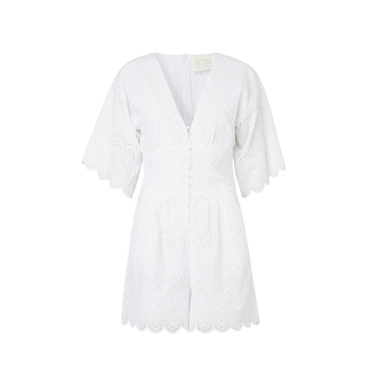 Notes du Nord Notes du Nord White Omia Playsuit 11573