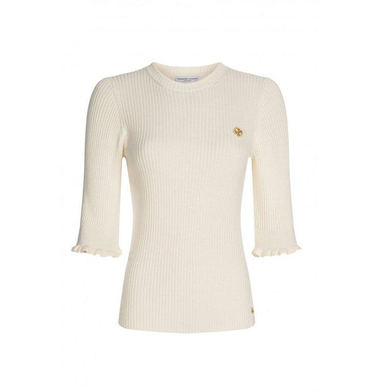 Fabienne Chapot Fabienne Chapot Off White Short Sleeve Pullover Sanne