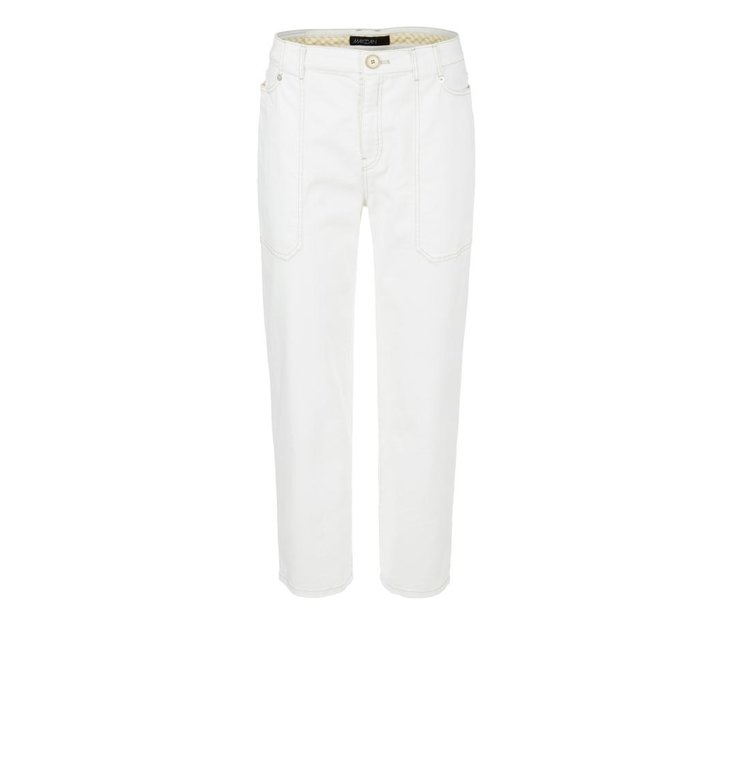 Marc Cain Marc Cain Off White Wide Cropped Jeans NC8207-D08