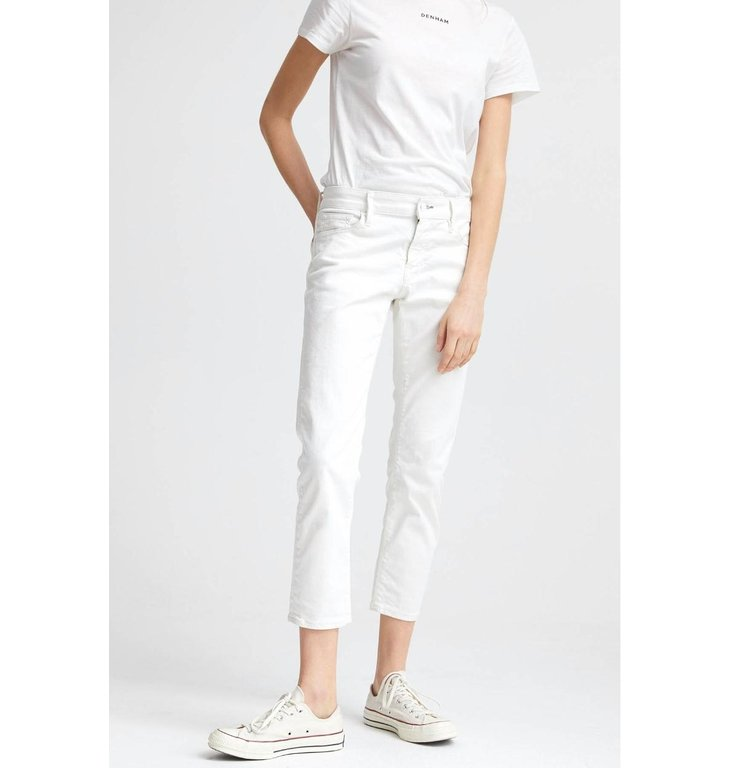 Denham Denham White Girlfriend Fit Jeans Monroe