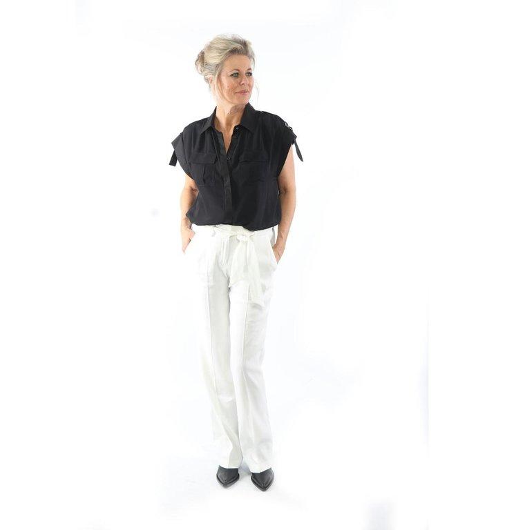 Cambio Cambio White Malice Trousers 8010-0373-01
