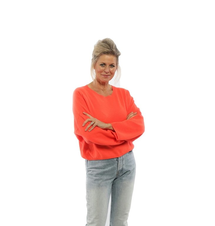 Absolute Cashmere Absolute Cashmere Orange Pull Oversized AC092015C