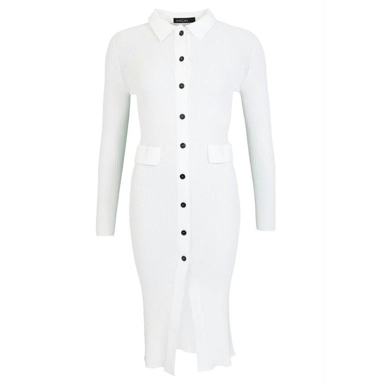 Marc Cain Marc Cain Off White Dress NC2105-M16
