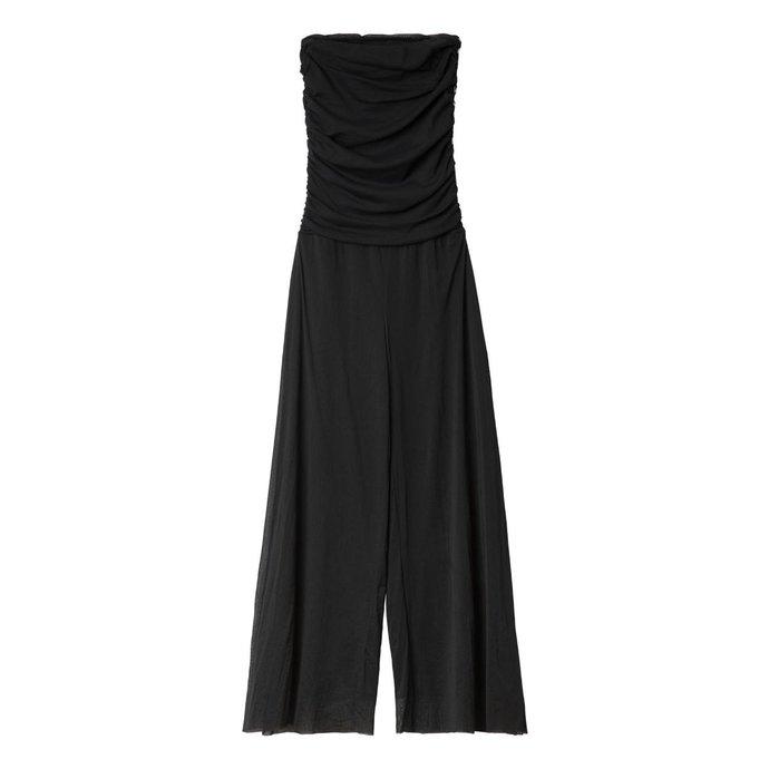10Days Black Strapless Jumpsuit 20.083.0201/3