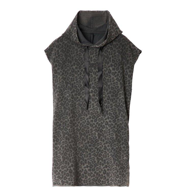 10Days 10Days Dark Grey Hoodie Dress Fade Out Leopard 20.318.0201/3