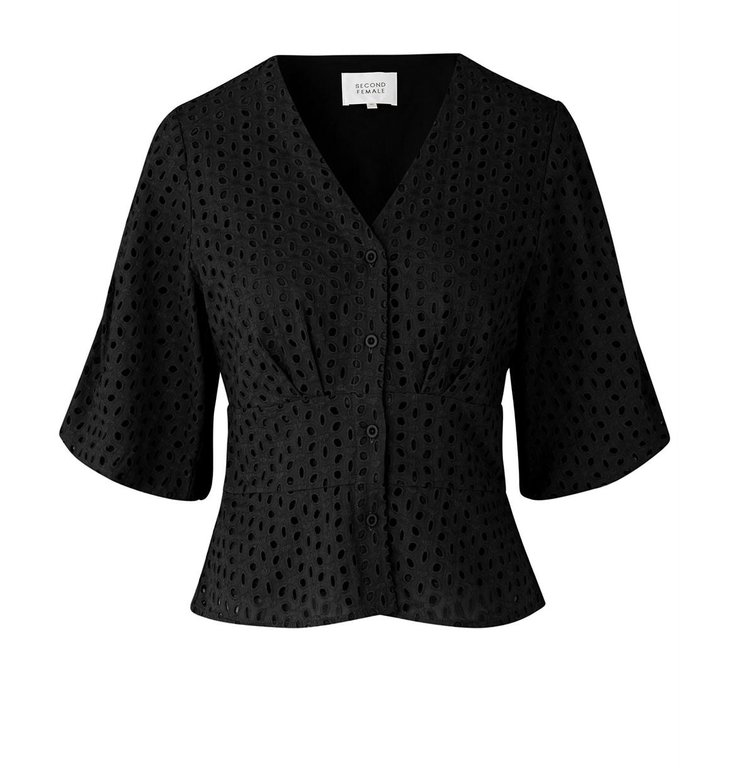 Second Female Second Female Black Milly SS Blouse 53287