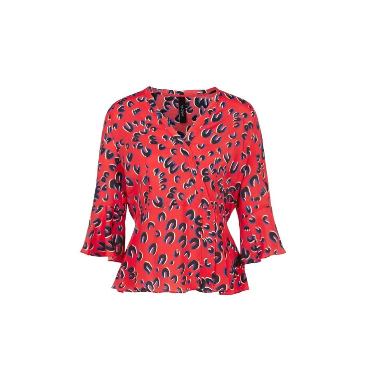 Marc Cain Marc Cain Red Blouseshirt NC5513-W49
