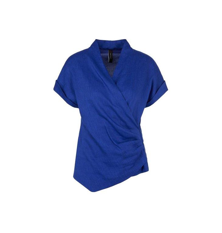 Marc Cain Marc Cain Cobalt Blue Blouseshirt NC5521-W47