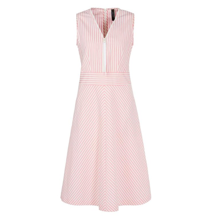 Marc Cain Marc Cain Pink/Multi Colour Striped Dress NS2130-W42