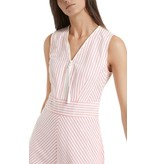 Marc Cain Pink/Multi Colour Striped Dress NS2130-W42
