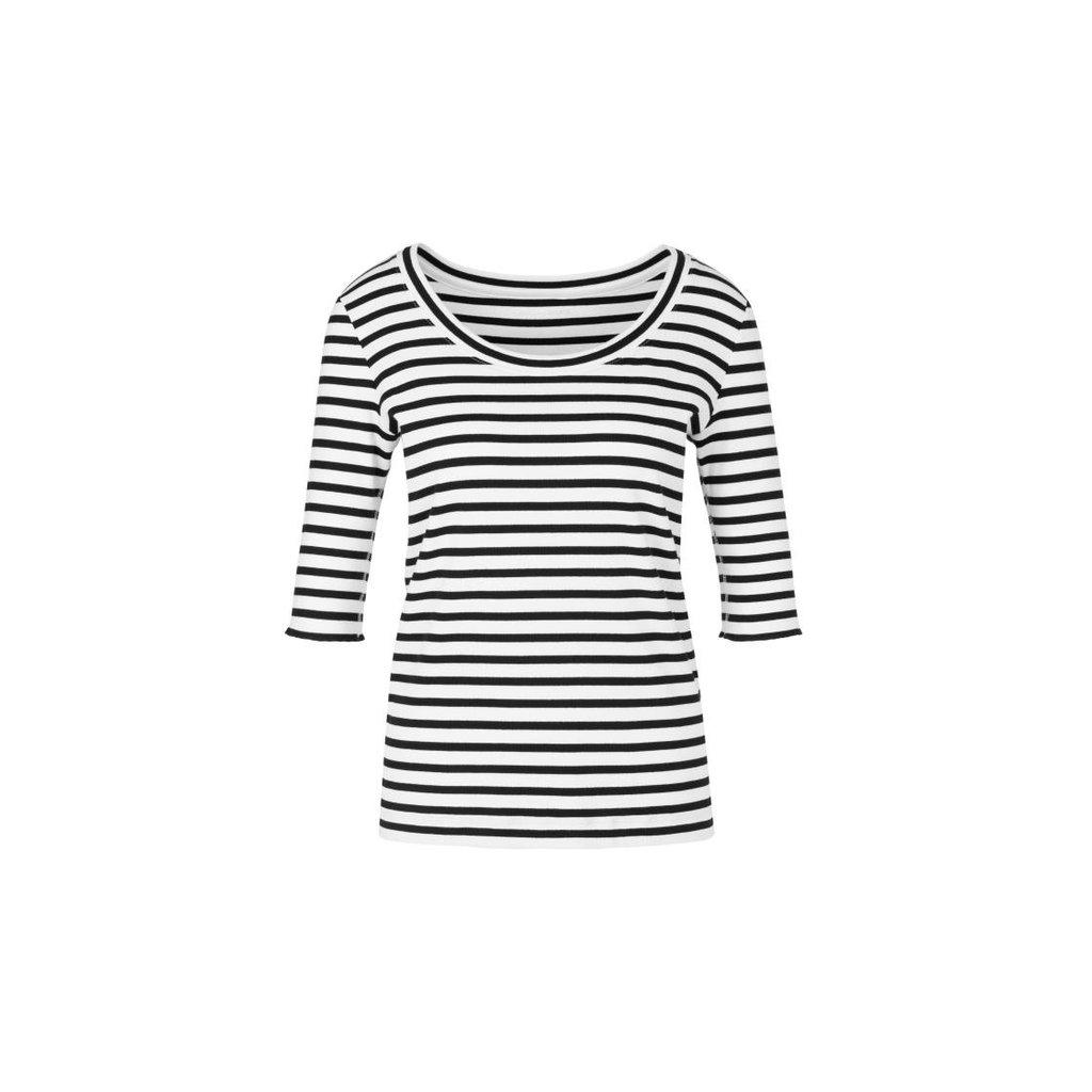 Marc Cain Black/White T-shirt NS4832-J90