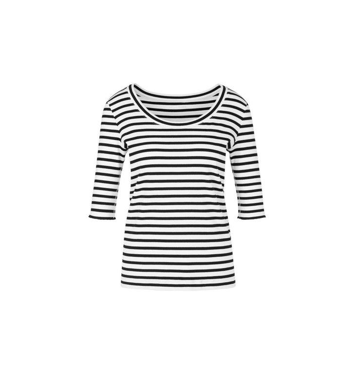 Marc Cain Marc Cain Black/White T-shirt NS4832-J90