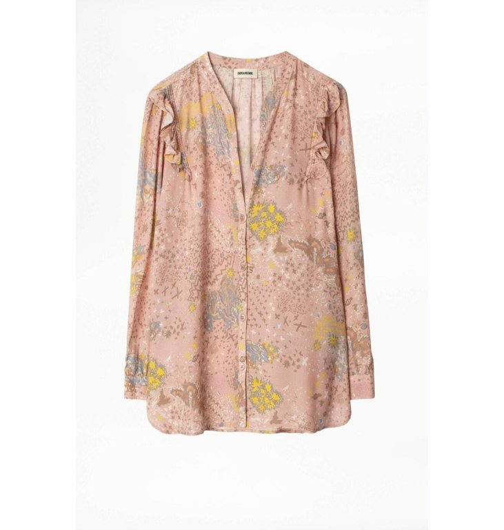 Zadig & Voltaire Zadig & Voltaire Pink/Multi Colour Blouse Tygg Print Glam
