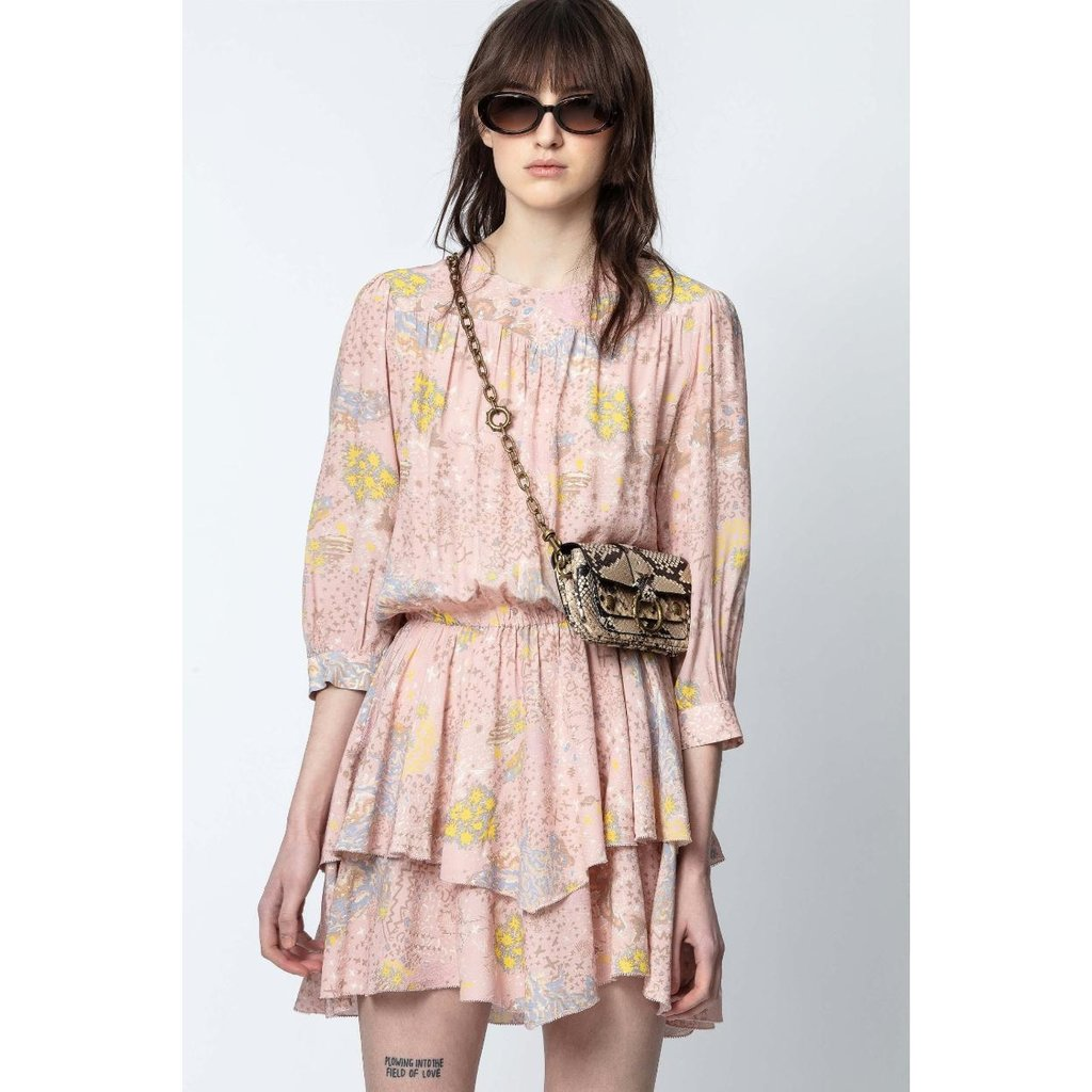Zadig & Voltaire Pink/Multi Colour Dress Rooka Print Glam