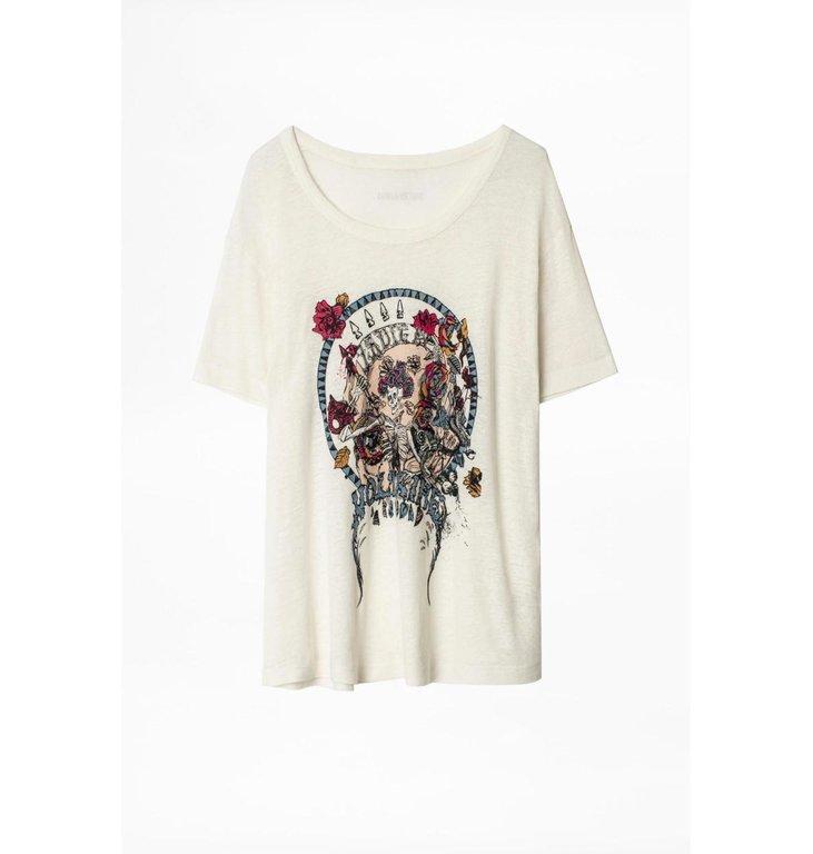 Zadig & Voltaire Zadig & Voltaire Off White T-shirt Marta Reapper