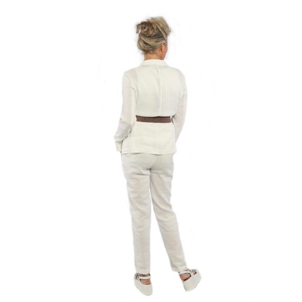 Marc Cain Off White Pantalon NC8159-W47