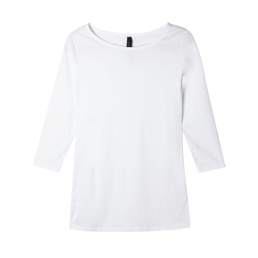 10Days White Slim Fit Boat Neck Tee 20.785.9900
