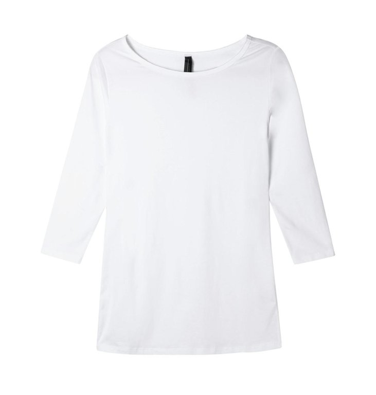 10Days 10Days White Slim Fit Boat Neck Tee 20.785.9900