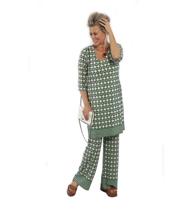 Ana Alcazar Ana Alcazar Green Print Pants 057724-2892