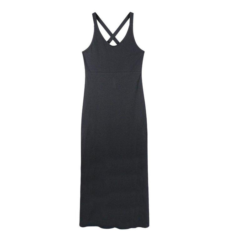 10Days 10Days Dark Grey Blue Wrapper Dress Jersey 20.303.0202