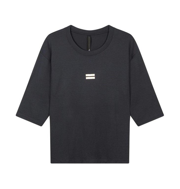 10Days 10Days Dark Grey Blue Short Sleeve Tee 20.748.0202