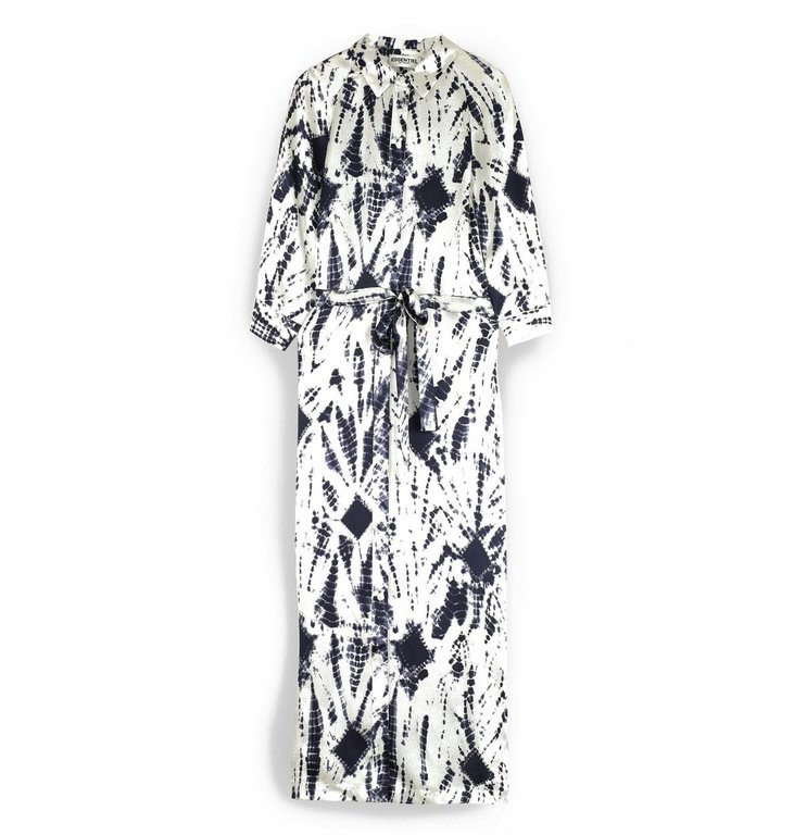 Essentiel Antwerp Essentiel Antwerp Blue/Soft White Dress Voir