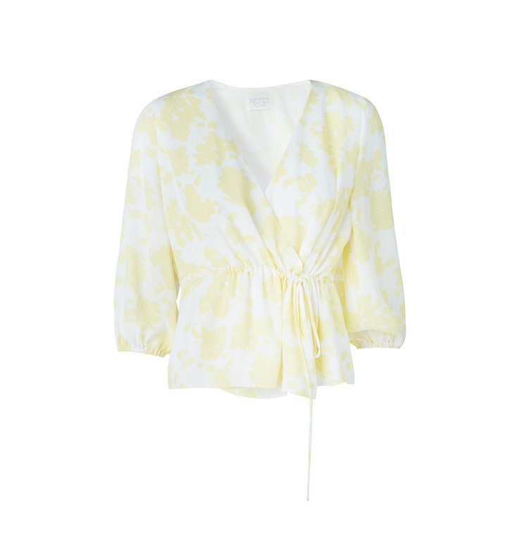 Notes du Nord Notes du Nord Yellow Orchid Recycled top 11522