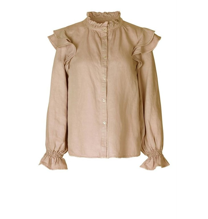 Second Female Second Female Sand Bella Long Sleeve Blouse 53350