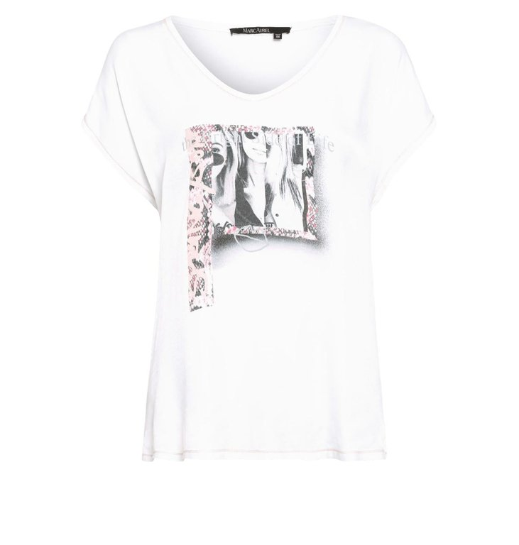 Marc Aurel Marc Aurel White T-shirt 7979-7000-73169