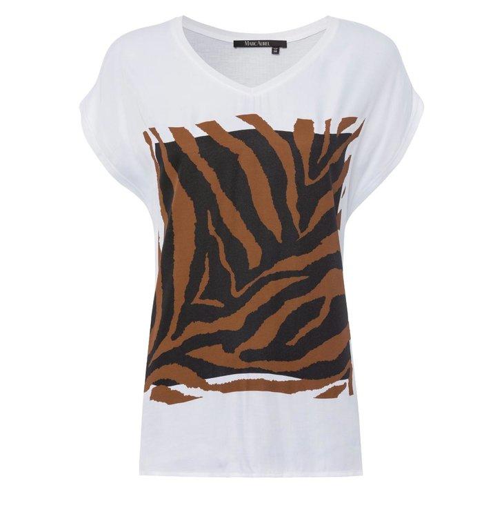 Marc Aurel Marc Aurel White Print T-shirt 7989-7000-73175