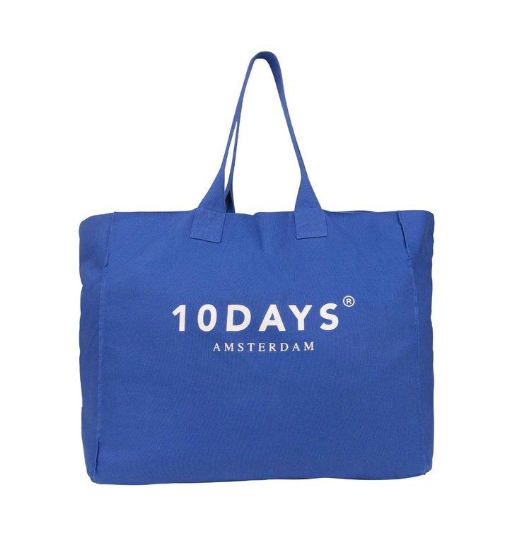 10Days 10Days Blue Canvas Bag Logo 20.960.0202