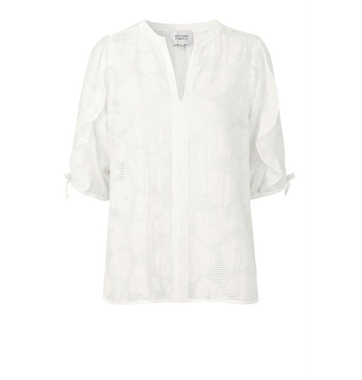 Second Female Second Female White Mila SS Blouse 53342