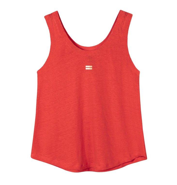 10Days 10Days Fluor Red Top Linen 20.450.0205