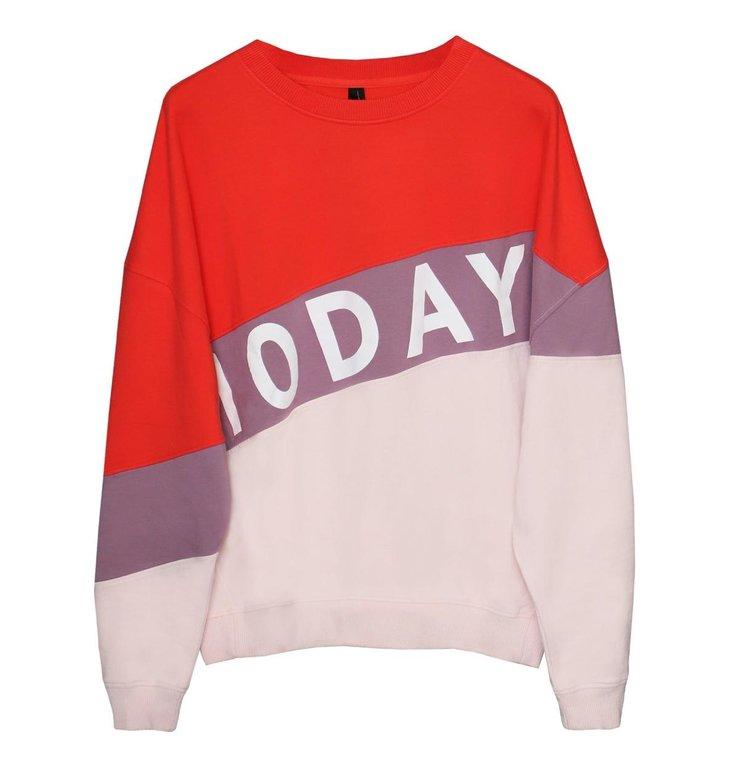 10Days 10Days Soft Dirty Pink Oversized Sweater Logo 20.801.0205
