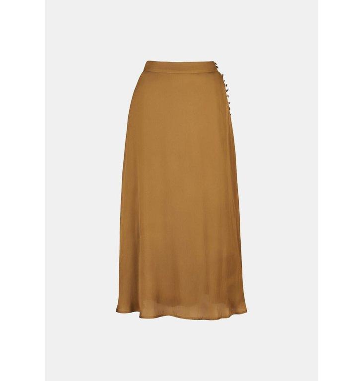 Essentiel Antwerp Essentiel Antwerp Kaki A-Line Skirt Woord