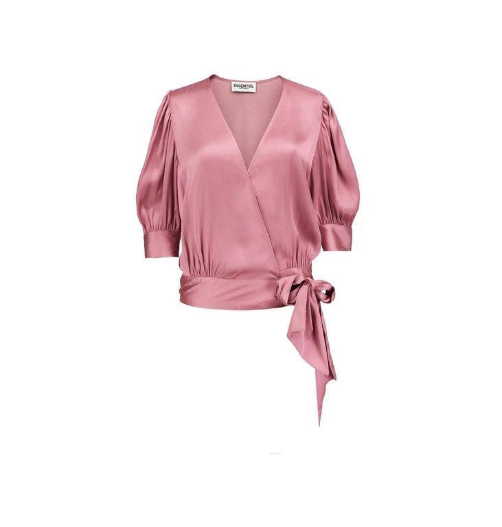 Essentiel Antwerp Essentiel Antwerp Pink Wrap Blouse Wham