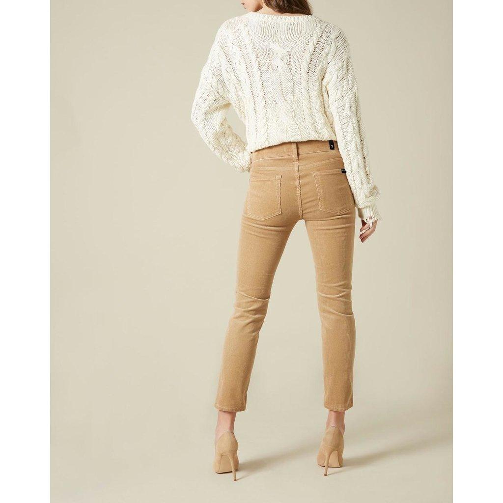 7 For All Mankind Camel Roxanne Corduroy Ankle Jeans JSVYV640