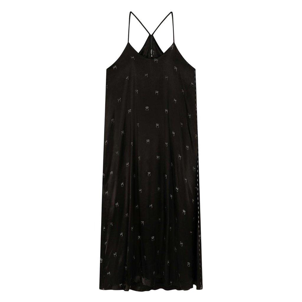 10Days Black Long Dress Medal 20-307-0203
