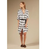 10Days Ecru Tunic Dress Slogan 20-403-0203